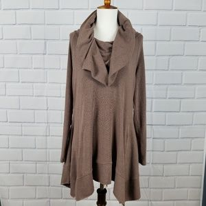 SOFT SURROUNDINGS B'Call Tunic in Brown  A4-17